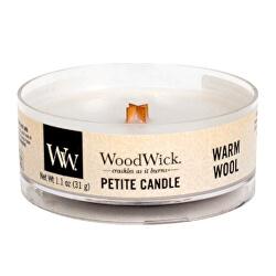 Aromatická malá svíčka s dřevěným knotem Warm Wool 31 g