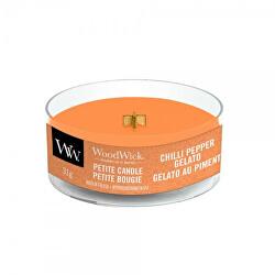 Aromatická malá svíčka s dřevěným knotem Chilli Pepper Gelato 31 g