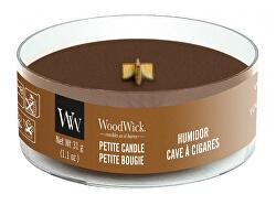 Aromatická malá svíčka s dřevěným knotem Humidor 31 g