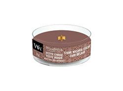 Aromatická malá svíčka s dřevěným knotem Stone Washed Suede 31 g