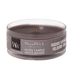 Aromatická malá svíčka s dřevěným knotem Suede & Sandalwood 31 g