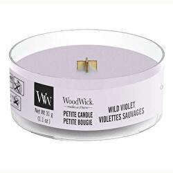 Aromatická malá svíčka s dřevěným knotem Wild Violet 31 g