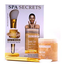 Gelová pleťová maska s aplikátorem SPA Secrets Gold Gel (Face Mask) 140 ml