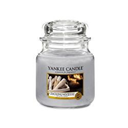 Lumânare aromatică Classic Mediu Crackling Fire lemn 411 g