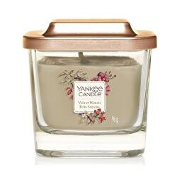Aromatická svíčka malá hranatá Velvet Woods 96 g