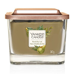 Aromatická svíčka střední hranatá Pear & Tea Leaf 347 g