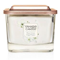 Aromatická svíčka střední hranatá Sheer Linen 347 g
