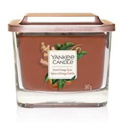 Aromatická svíčka střední hranatá Sweet Orange Spice 347 g