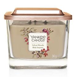 Aromatická svíčka střední hranatá Velvet Woods 347 g