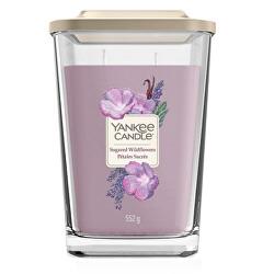 Aromatická svíčka velká hranatá Sugared Wildflowers 552 g