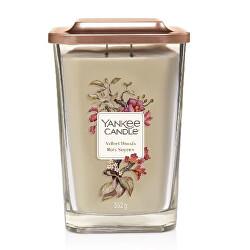 Aromatická svíčka velká hranatá Velvet Woods 552 g