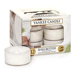 Aromatické čajové svíčky Shea Butter 12 x 9,8 g