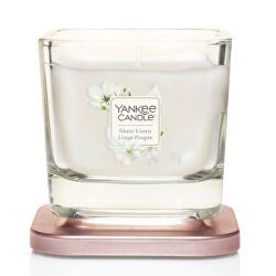 Aromatická svíčka malá hranatá Sheer Linen 96 g