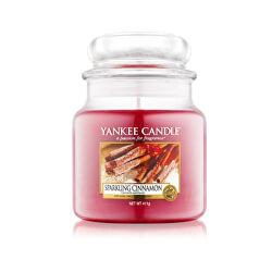 Vonná svíčka Classic střední Třpytivá skořice (Sparkling Cinnamon) 411 g