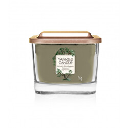 Aromatická svíčka malá hranatá Vetiver & Black Cypress 96 g - SLEVA - chybí etiketa