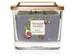 Aromatická svíčka střední hranatá Fig & Clove 347 g