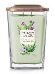 Aromatická svíčka velká hranatá Cactus Flower & Agave 552 g
