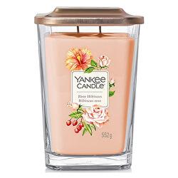 Aromatická svíčka velká hranatá Rose Hibiscus 552 g