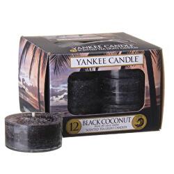 Aromatické čajové svíčky Black Coconut 12 x 9,8 g