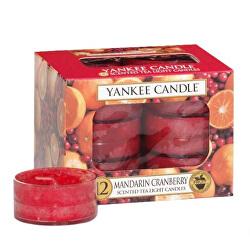 Aromatické čajové svíčky Mandarin Cranberry 12 x 9,8 g