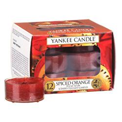 Aromatické čajové svíčky Spiced Orange 12 x 9,8 g
