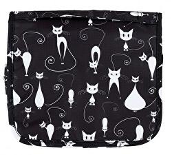 Závesná kozmetická taška Kočky