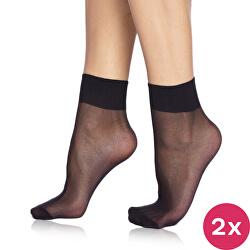 2 PACK - silonkové ponožky Die Passt 20 DEN Black