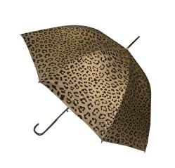 Dámsky palicový vystreľovací dáždnik Metallic Animal Print Gold Leopard