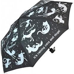 Dámsky skladací mechanický dáždnik Every day Raining Cats & Dogs