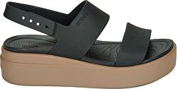 Dámske sandále Crocs Brooklyn Low Wedge W Black/Mushroom