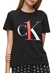 Női póló CK One S/S Crew Neck Black Red Logo