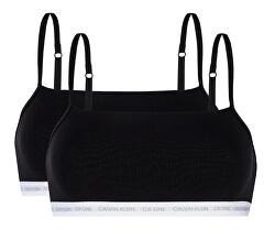 2 PACK - dámská podprsenka CK One Bralette Black/Black