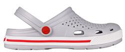 Dámské pantofle Lindo Khaki Grey/White
