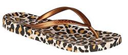 Dámské žabky Kaja Printed Leopard/Gold