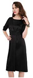 Női ruhaszekrény szekrény A-soros redős ruha Black