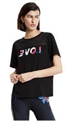 Tricou pentru femei Tshirt Mesh Love Black Negro 20SOTK37 2000