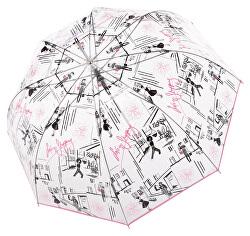 Dámský holový vystřelovací deštník Fiber Long Automatic transparent St. Tropez