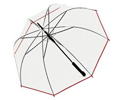 Dámský holový vystřelovací deštník Hit Long Automatic transparent Glocke