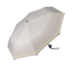 Női összecsukható esernyő Mini Basic szürke, sárga szegéllyel nyomtatva