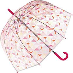 Dámský holový deštník Long AC Domeshape Transparent