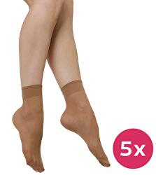 5 PACK - dámske ponožky Napolo 1004 telové