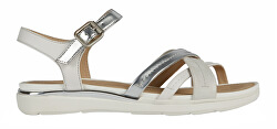 Dámske sandále D Sandal Hiver Silver / White D02GZA-0BN85 -C0434