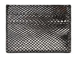 Dámská kožená dokladovka PCNAINA LEATHER SNAKE CARDHOLDER Black snake