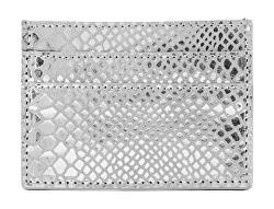 Dámská kožená dokladovka PCNAINA LEATHER SNAKE CARDHOLDER Silver Colour snake