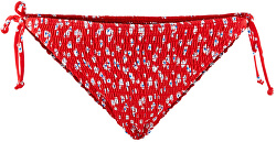 Dámske plavkové nohavičky PCNIKITA 17101703 High Risk Red AOP: FLOWER PRINT