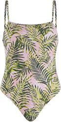 Jednodielne plavky PCNIA Swimsuit SWW Candy Pink LEAF PRINT