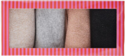4 PACK - dámské ponožky PCRHONA LUREX SOCK BOX