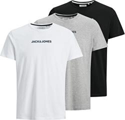 3 PACK- tricou pentru bărbați JACRAIN Regular Fit