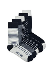 JACLIGHT 12185708 Világos szürke Melange 5 PACK - férfi zokni