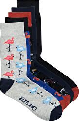 5 PACK - șosete pentru bărbați JACSUMMER FLAMINGO